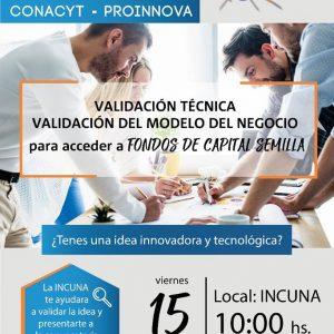 Charla informativa Proyecto PROINNOVA – CONACyT